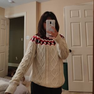 JCrew fair isle knit sweater xs